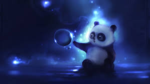 white and black panda wallpaper