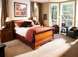 bedroom design wooden sleigh bed