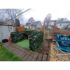Shop Century Outdoor Living Artificial Planes Hedge Fence Covering Osmanthus Leaf Overstock 11037004