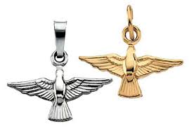 holy spirit dove charm pendant in