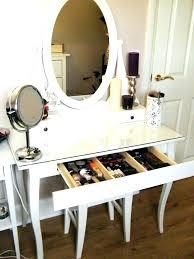 corner makeup vanity