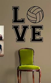 Volleyball Love V2 Quote Design Sports Decal Sticker Wall Vinyl Room D Boop Decals