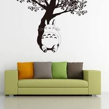 Amazon Com Wall Decal Home Decor My Neighbor Totoro Wall Decal Totoro Under The Tree Vinyl Wall Sticker Kids Room Home Kitchen