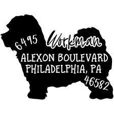 Maltipoo Dog Address Stamp 904 Custom