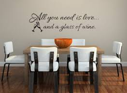 All You Need Is Love Wall Decal Wine Wall Decal Kitchen Etsy