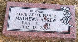 Alice Adele Fisher Askew (1917-2006) - Find A Grave Memorial