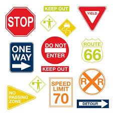 Wall Pops 3 5 In X 2 In Road Signs Wall Art Decal Kit Wpk0617 The Home Depot
