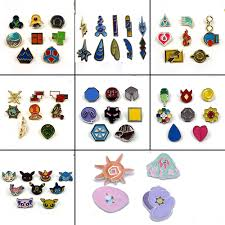 Poke Gym Badges Kanto Johto Hoenn Sinnoh Unova Kalos League Region ...