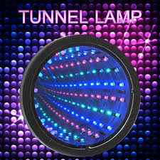 tunnel mirror led light 3 colors wall