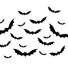 Set Of 18 Bat Wall Decals Halloween B355 Designedbeginnings