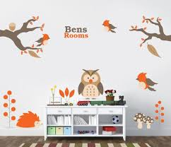 Owl Nursery Decor Animal Wall Decal Owl Stickers Tree Wall Decal Jungle Wall Decal Name Vinyl Kids Christmas Gift By Expressed In Prints Catch My Party