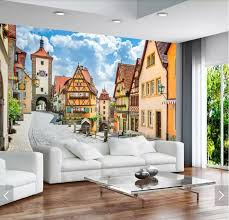 3d Romantic Italy Street View Mural Wallpaper Murals Art Wall Decal Hd Photo Wall Papers Roll Wallpapers Contact Paper Custom Wallpapers Aliexpress