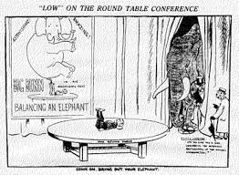 round table conference mahatma gandhi