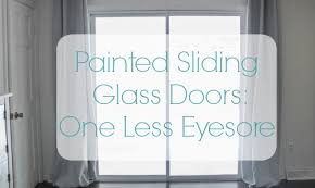 painted sliding glass doors one less