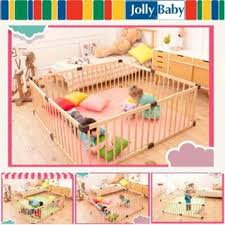 Pre Oder Jollybaby Baby Game Fence Crawling Fence Baby Safety Toddler Fence Child Fence Fence Solid Wood Shopee Malaysia
