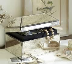 antique mirror medium jewelry box