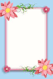background flower border frame simple