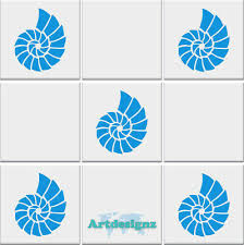 Sea Shell Tile Stickers Bathroom Seashell Nautical Vinyl Wall Art Car Decal Ad96 Ebay