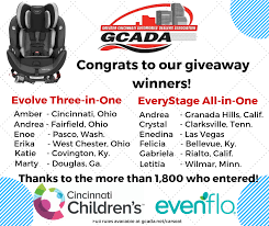 twelve car seat giveaway winners
