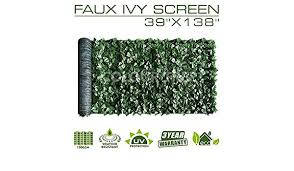 Mesh Backing 3 Years Warranty Colourtree 6 X 12 Artificial Hedges Faux Ivy Leaves Fence Privacy Screen Cover Panels Decorative Trellis Outdoor Decor Patio Lawn Garden