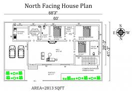 amazing 54 north facing house plans as