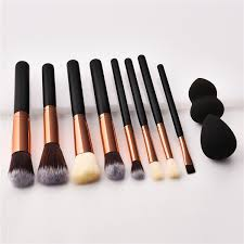 makeup brush set with free sponge