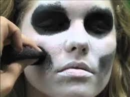 skeleton face paint easy 5 min