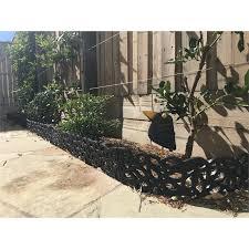 Matrix 900 X 150mm Charcoal Falling Leaves Garden Edging Bunnings Warehouse