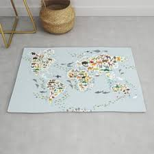 World Map Rugs For Any Room Or Decor Style Society6
