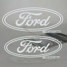 2 Ford Logo Clear Vinyl Window Glass Decals Emblem Stickers For Car Truck Suv Ebay