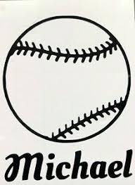 Color Size Personalized Baseball Softball Name Vinyl Decal Sticker Car Window Ebay