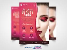 beauty salon flyer template free psd
