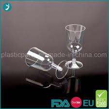 china disposable plastic wine glasses