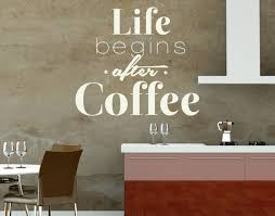 Life After Coffee Wall Decal Quote Contemporary Wall Decals By Style And Apply