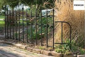 Panacea Classic Fence Panel Section And Classic Edge End Panel In Black Steel 11 99 Picclick Uk
