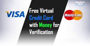free virtual credit card with money for