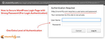 secure wordpress login page wp admin