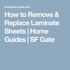 how to remove replace laminate sheets