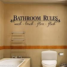 Bathroom Rules Door Sign Vinyl Quotes Lettering Words Wall Stickers Bathroom Toilet Washroom Decoration Home Decor Decal Art Words Wall Stickers Bathroom Ruleswall Sticker Aliexpress