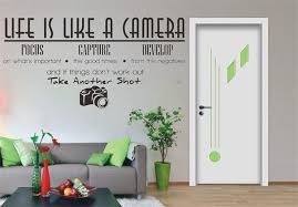 Life Is Like A Camera Wall Decal Wall Decals Wall Stickers Home Vinyl Wall Stickers