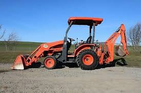 heavy equipment kubota backhoe
