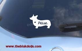 Cardigan Welsh Corgi Silhouette Pembroke Vinyl Sticker Car Decal Personalized Blakdogs Vinyl Designs