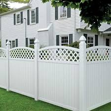 6 X6 Picketlock Arched Lattice Top Fence Panel Kit At Menards Fence With Lattice Top Vinyl Fence Panels Fence Panels