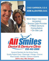 Sooner Care Provider in Oologah, OK, Dental Care - All Smiles ...