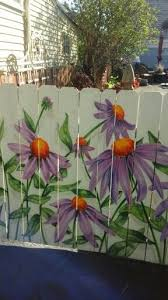 Corn Flowers Garden Fence Art Fence Art Garden Mural