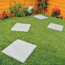 set of 4 12 square plastic patio slabs