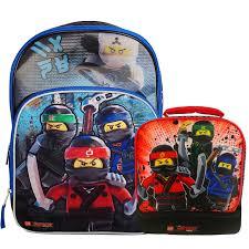 Lego Ninjago Kids Large Backpack, Lunch Bag Set - Znvora
