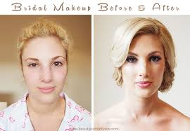 bridal makeup before after beauty