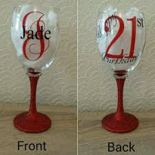personalised glitter wine glass great