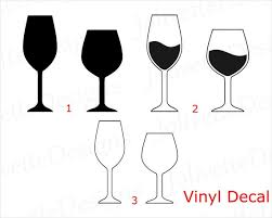 Wine Glasses Champagne Alcohol Drink Decal Car Decal Etsy